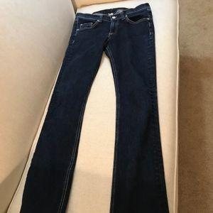 EUC! Rag & bone stiletto boot jeans: 27, sz. dark